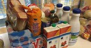 Productes del Banc d'Aliments de la Bisbal.
