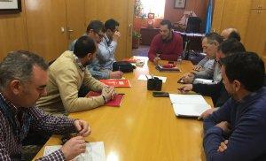 Representants de Movistar, en una reunió amb Miguel Ángel Perín.