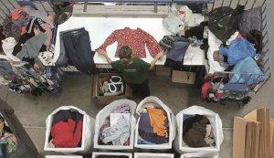 Humana va recollir el 2017 prop de set tones de roba usada a la Bisbal.