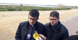 Jaume Casañas i Raul Mudarra, a la zona del port de la tèrmica.