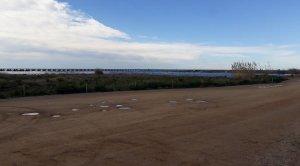 L'actual espai del port de la tèrmica, davant la Marina de Cubelles.