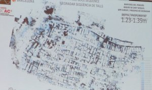 Imatge de la ciutat ibèrica soterrada a Banyeres i que s'ha obtingut per georadar.