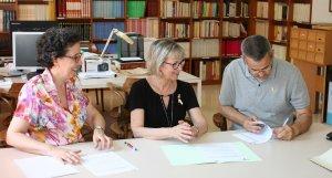 L'acte de cessió del fons de l'Ajuntament de Llorenç a l'Arxiu Comarcal.