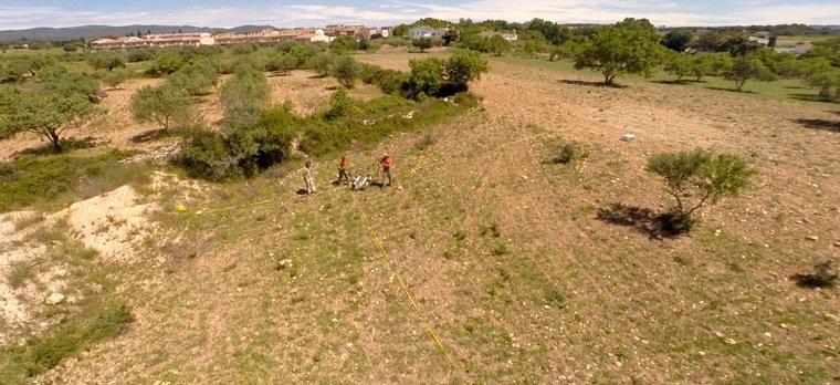 Terrenys on hi ha soterrada la ciutat ibèrica.