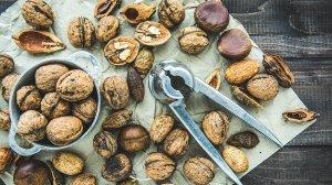 Los frutos secos contienen ácidos grasos poliinsaturados.