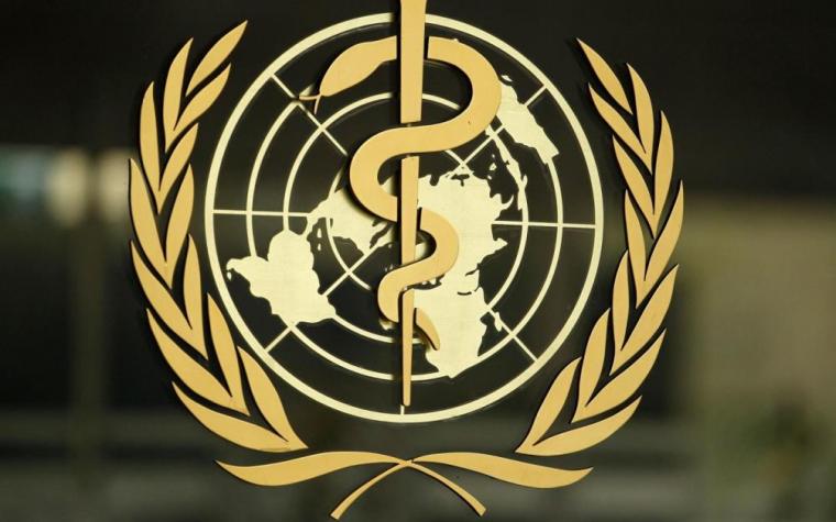 El logo de la OMS representa la vara de Asclepio, símbolo de la medicina