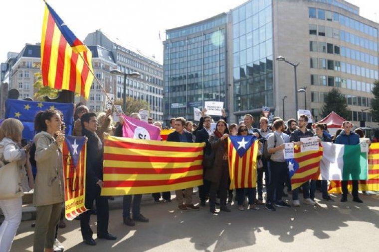 Imatge d'una concentració a Brussel·les