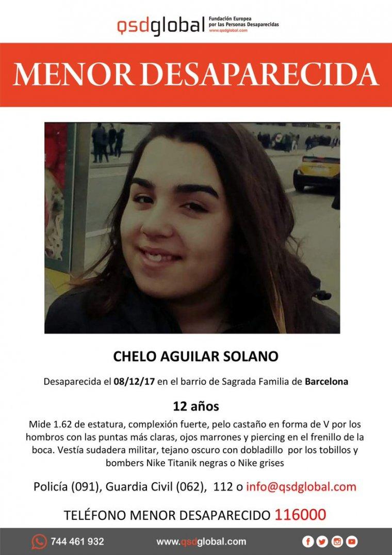 Chelo Aguilar Solano, desapereguda el passat divendres a Barcelona
