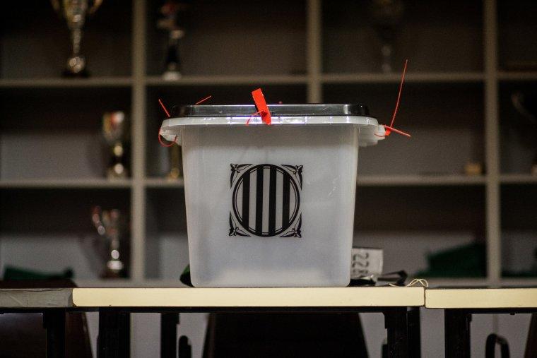 Una de les urnes que es van utilitzar a Catalunya pel referèdum de l'1-O
