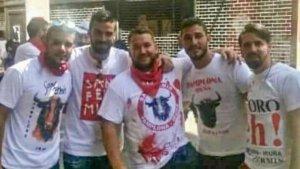 Cuatro de los cinco miembros de La Manada