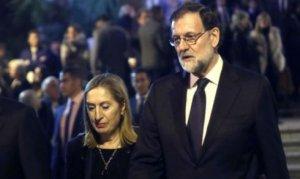 Imagen de Rajoy en el funeral
