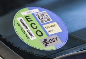 Imagen de una de las etiquetas de emisiones