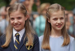 La princesa Leonor y la infanta Sofía
