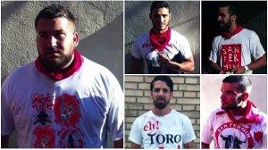 Las fotos que realizaron los agentes para identificar a 'La Manada'