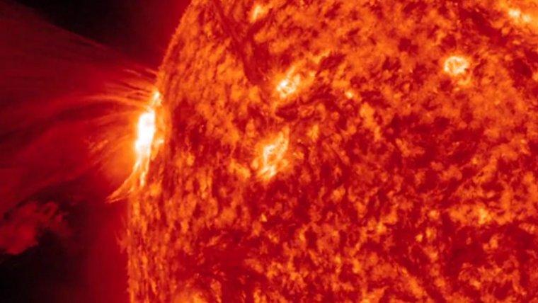 Imagen de una erupción solar