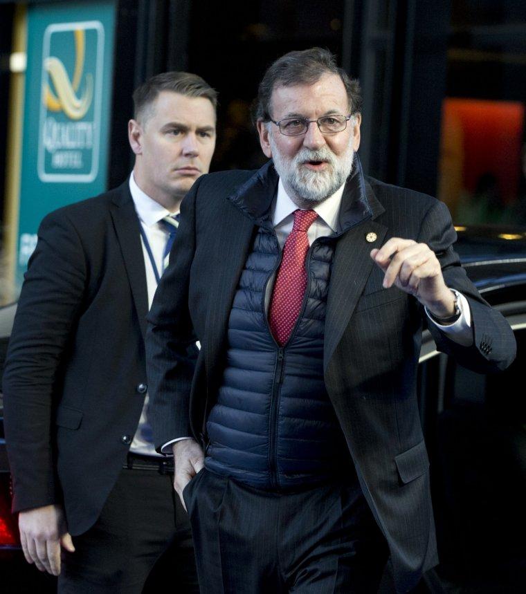 Mariano Rajoy llegando a la cumbre social europea