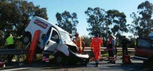 Imagen del lugar de accidente en Huelva