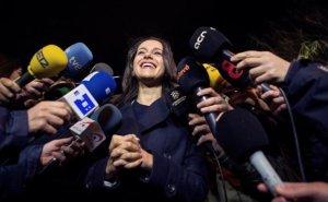 Inés Arrimadas durante un acto de campaña