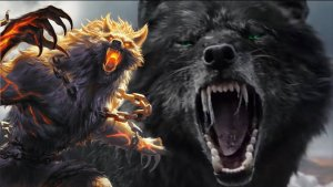 El temible lobo Fenrir es hijo de Loki y mata a Odín en el Ragnarök