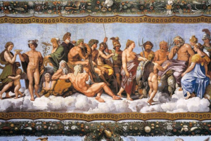 Los dioses griegos vivían en el Olimpo y estaban regidos por el dios de dioses, Zeus