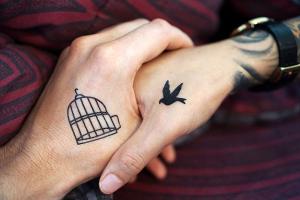 Ejemplo de tatuajes para parejas