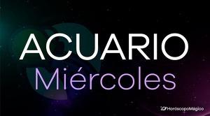 Horóscopo Acuario Miércoles