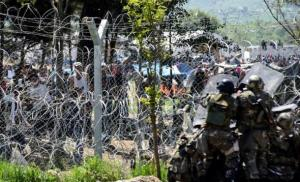 Enfrontaments a Idomeni fa tres dies.