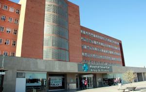 Imatge de l'entrada de l'Hospital Universitari Arnau de Vilanova de Lleida.