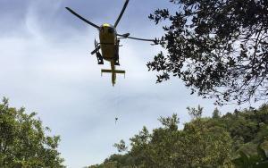 Imatge de l'helicòpter al lloc dels fets.