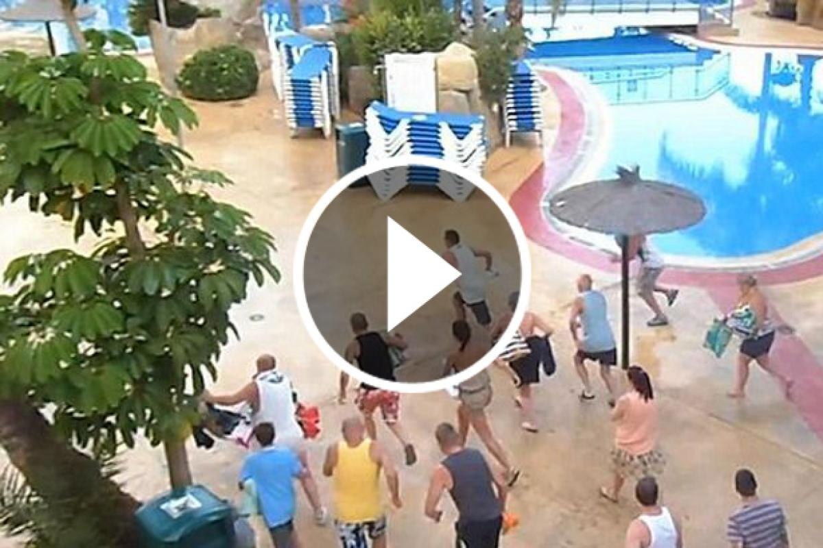Curiosas carreras en un hotel de benidorm para coger sitio for Cuando abren las piscinas en madrid