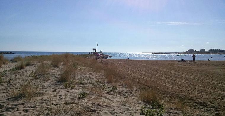Imatge de la platja de Cubelles.