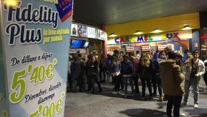 Gran afluència de gent a Ocine Les Gavarres en una anterior edició de la Festa del Cinema