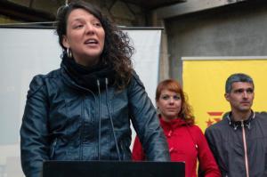 Montse Venturós, alcadessa de Berga, detinguda pels Mossos d'Esquadra.