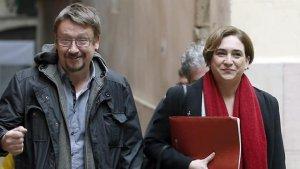 Ada Colau i Xavier Doménech, en una imatge d'arxiu.