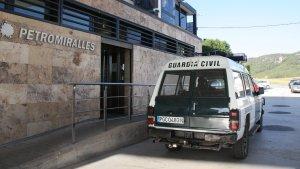 Imatge d'arxiu de l'operació policial de la Guàrdia Civil contra Petromiralles