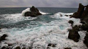 Mar molt mogut aquest matí a Lloret de Mar