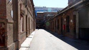 Pla general d'un dels corredors del recinte fabril Can Batlló