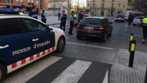 El cotxe detingut després d'una persecució a Salt