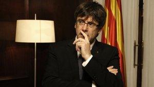 El president de la Generalitat de Catalunya, Carles Puigdemont