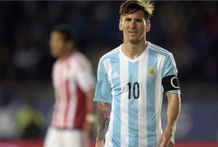 Lionel Messi amb la camiseta de l'Argentina