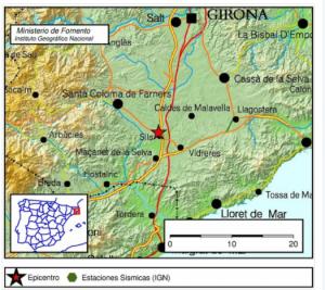Epicentre del terratrèmol de Girona
