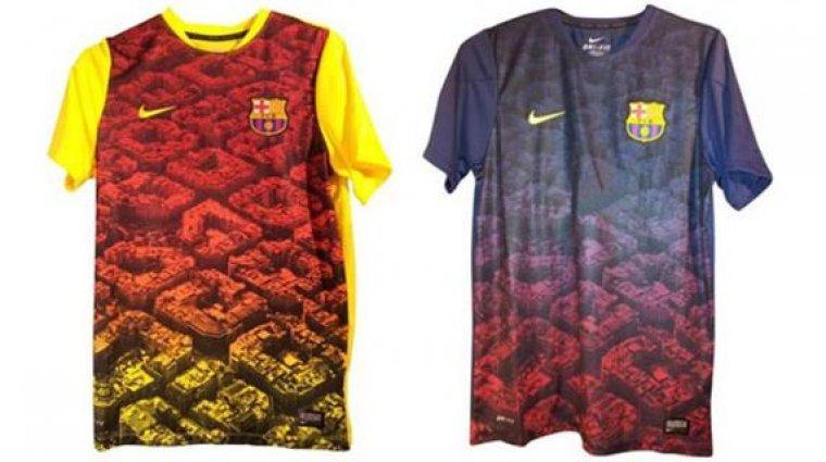 Les samarretes d entrenament del 2013-2014 podrien servir d inspiració per  a les de la nova temporada.  6895a44a23a