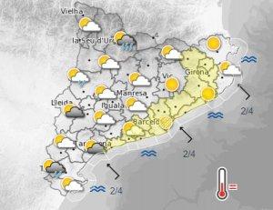 La tarda de dimarts, 29 d'agost, estarà protagonitzada per núvols a l'oest de Catalunya i altes temperatures a l'est i el litoral.