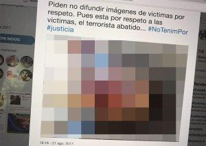 Toni Moog genera polèmica en compartir la imatge del terrorista mort pels Mossos.