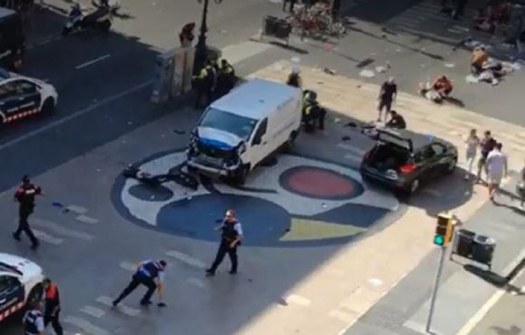 Imatge d'arxiu de l'atac terrorista de Barcelona.