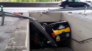 Accidente de un taxi