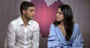 Adrián i Sandra, concursants de 'First Dates', al final de la seva cita.