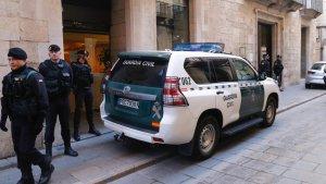 Imatge de la Guàrdia Civil a Girona.