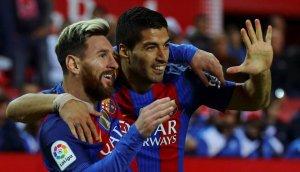 Messi i Suárez celebrant un gol