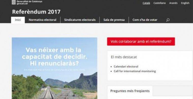 Web del referèndum
